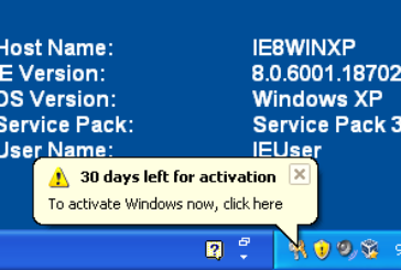 Reset 30 days activation Windows XP