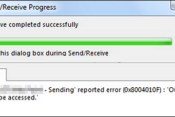 0x8004010F: Outlook data file cannot be accessed