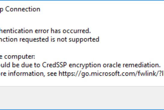 Correzione crittografia Oracle per CredSSP