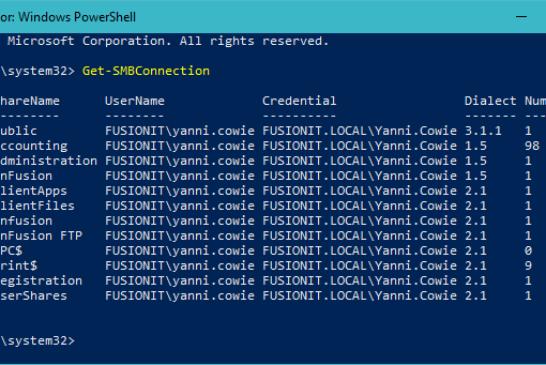 Controllare la versione SMB della connessione in uso