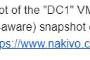 VMware Tools quiescence snapshot error – Backup appliance